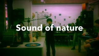Sound of nature – An interactive art installation by grade 6 students.