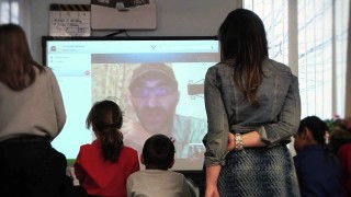 Milton Hershey School Students Skype with Author